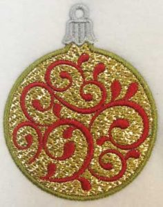 Swirls 1 ornament from All That Glitters by LindeeGEmbroideyr