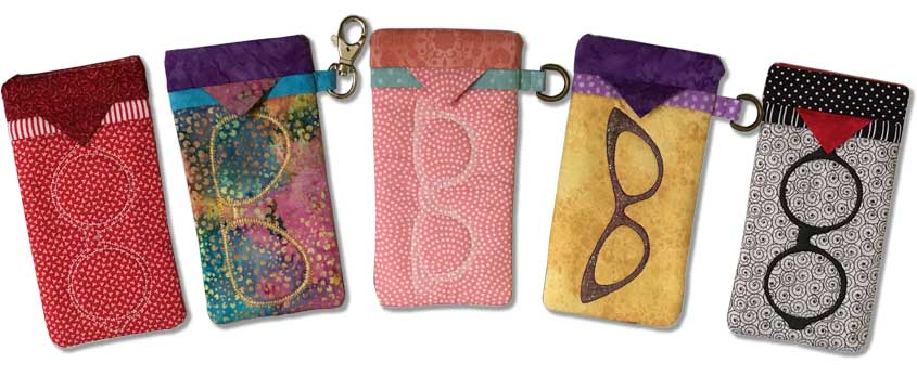 "In-the-Hoop ""Snap Bag"" Glasses or Phone Case"