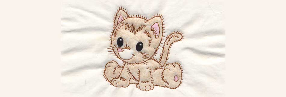 Retro kitty colored & quilted