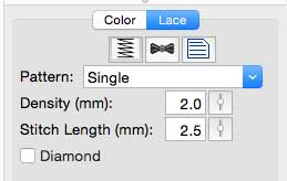 Set stitch properties to Single