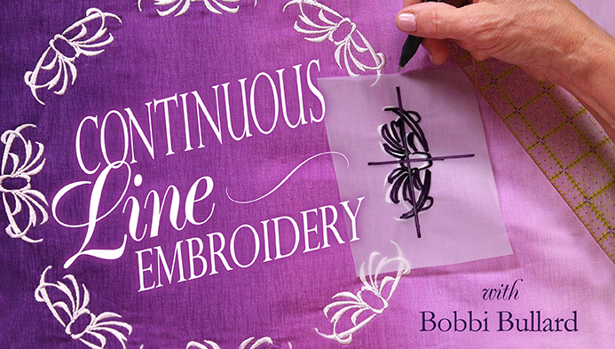Continuous-Line Embroidery with Bobbi Bullard