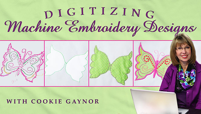 Digitizing Machine Embroidery Designs with Cookie Gaynor