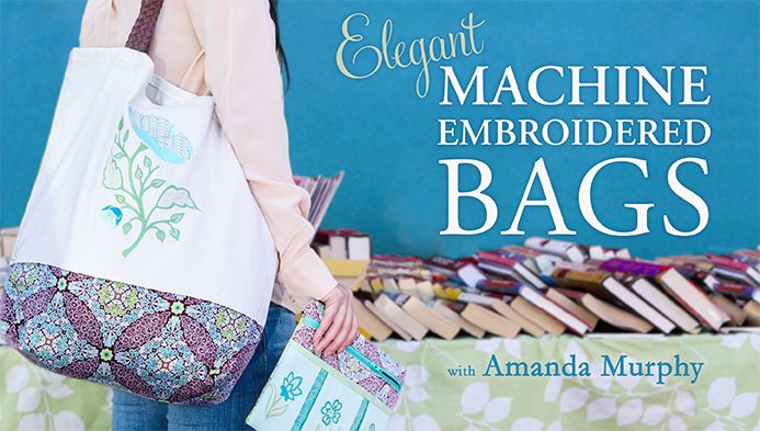 Elegant Machine Embroidered Bags with Amanda Murphy