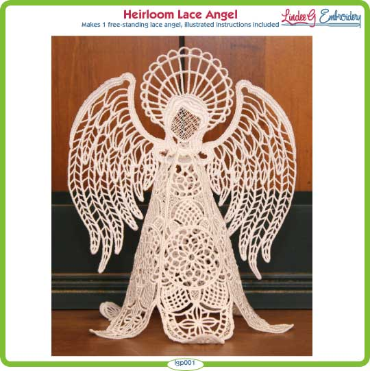 Lace Angel decoration  Lace angel hanging decoration  free standing lace angel with red ribbon  memorial angel keepsake