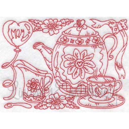 (lgs09604) Tea with Cup & Creamer (Multi-size)