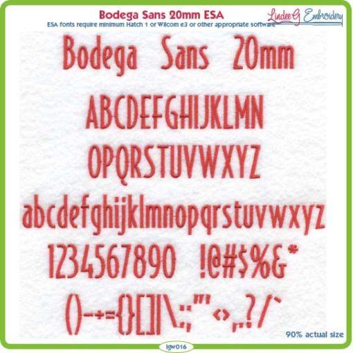 Bodega Sans 20mm ESA Font