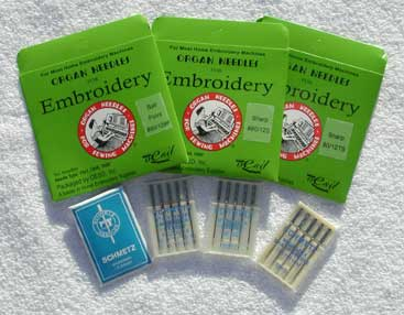 Organ & Schmetz Embroidery Needles