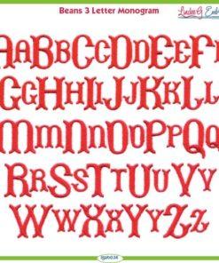 Beans Monogram Font