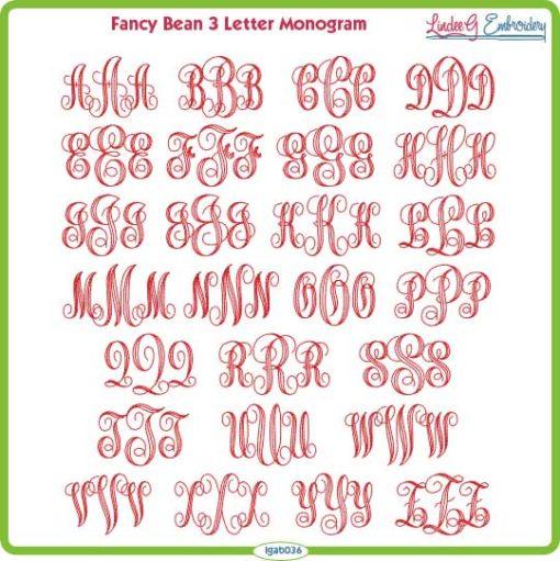Fancy Monogram Bean Font