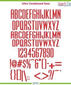 Ultra Condensed Sans Font