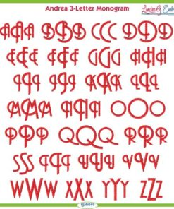 Andrea 3-Letter Monogram