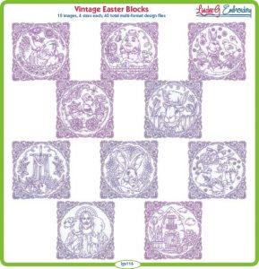(lgs116) Vintage Easter Blocks