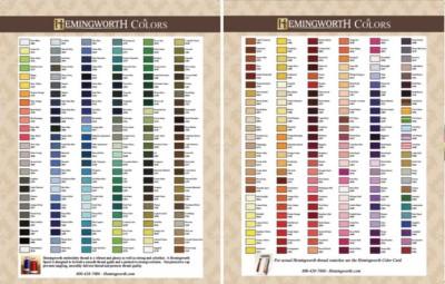 Hemingworth thread chart