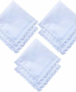 Ladies hankies with crocheted edging