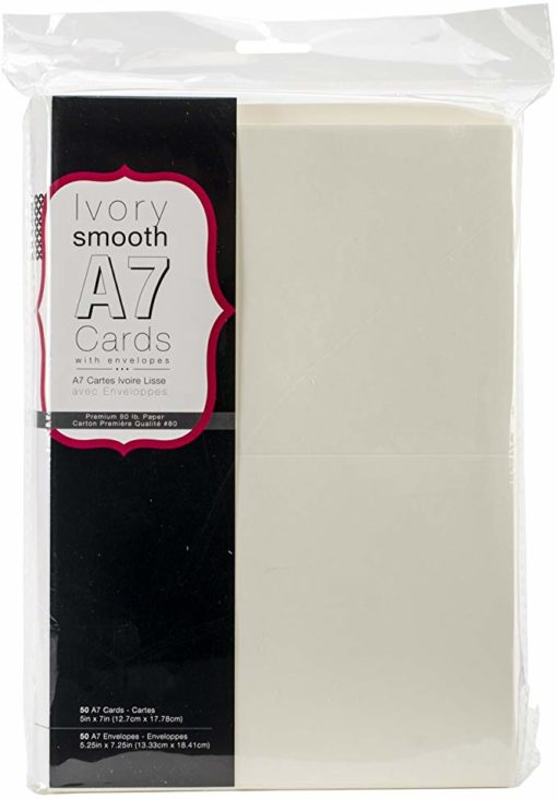 Heavyweight A7 Cards with Envelopes (ivory)