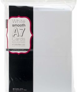 Heavyweight A7 Cards with Envelopes (white)