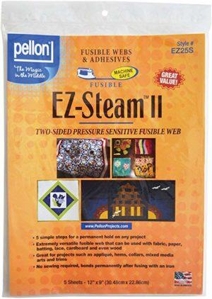 Pellon EZ Steam II 12″X9″ Sheets 5/PKG-White