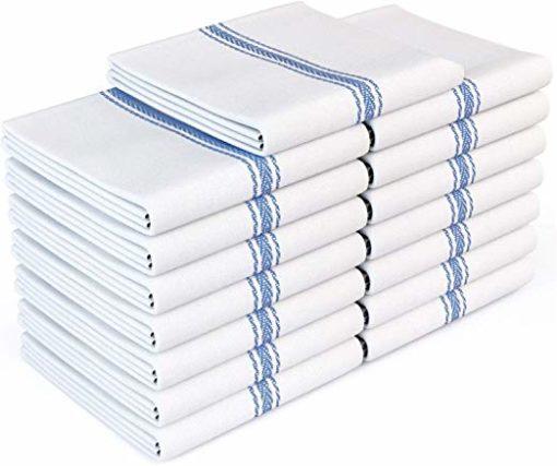 Zeppoli Classic White Flour Sack Kitchen Towels
