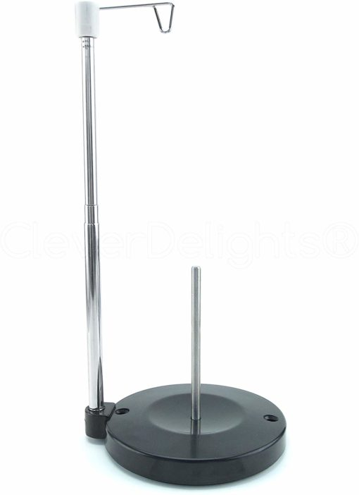 Universal Single Cone and Spool Adjustable Thread Stand for Sewing and Embroidery Machines