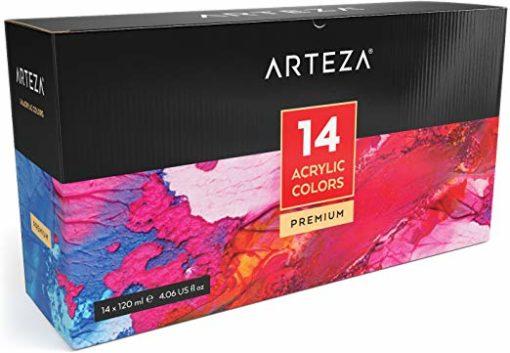 ARTEZA Acrylic Paint, Set 14 Colors