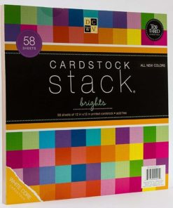 DCWV Cardstock Stack, Match Makers Brights, 58 Sheets, 12 x 12 inches