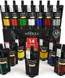 ARTEZA Acrylic Paint, Set 14 Colors