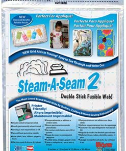 Steam-A-Seam 2 Double Stick Fusible Web-9″X12″ 5/Pkg(2 Pack)