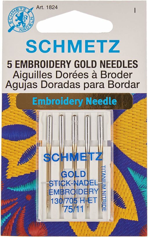 Schmetz Gold Embroidery Needles