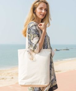 Heavy Duty and Strong Large Natural Canvas Tote Bags with Bottom Gusset