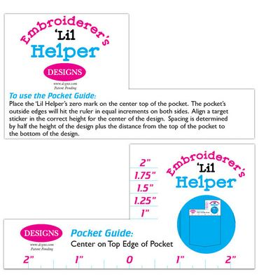 Embroidery placement aid, Embroiderer's Helper