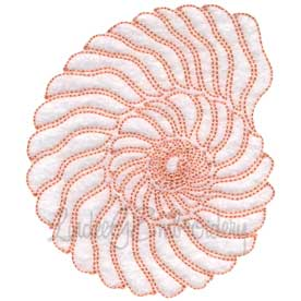 (lgs07020) Seashell Outline