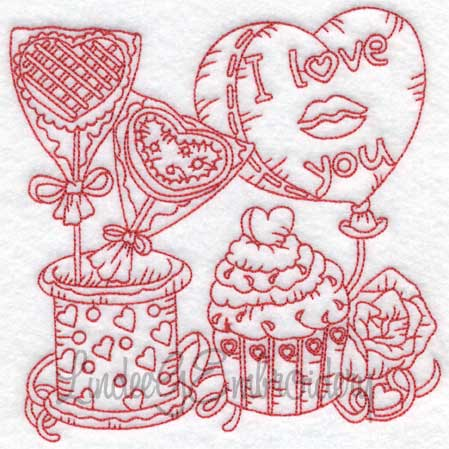 (lgs10301) Cupcake with Rose & Balloon (Multi-size)