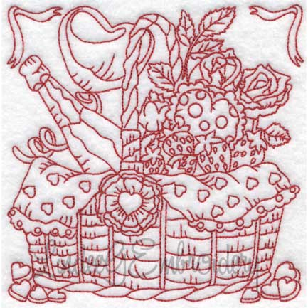(lgs10303) Basket with Wine & Roses (Multi-size)
