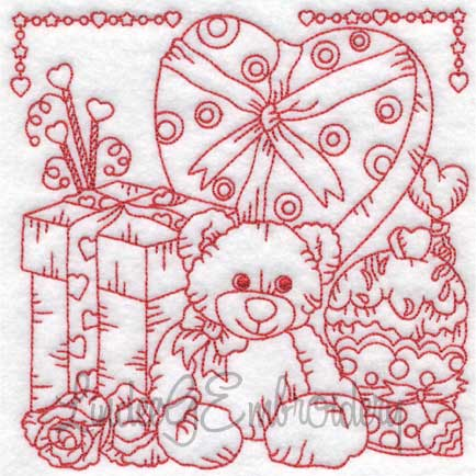 (lgs10304) Bear with Roses & Candy (Multi-size)