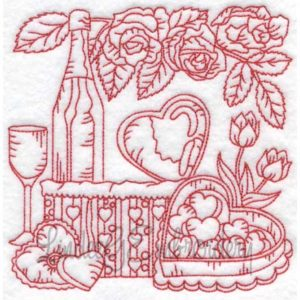 (lgs10306) Wine with Roses & Candy (Multi-size)