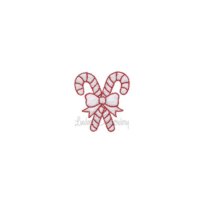 (lgs10510) Candy Cane Pair (1.5 x 1.7-in)
