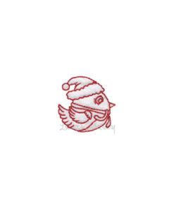 (lgs10512) Christmas Bird (1.6-in)