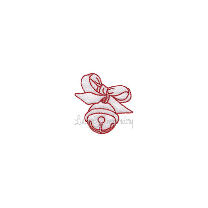 (lgs10522) Jingle Bell with Bow (1.7-in)