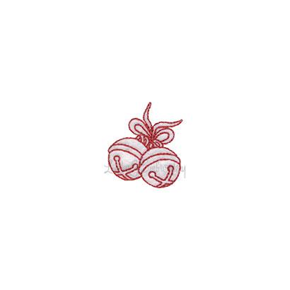(lgs10524) Jingle Bells Pair (1.5 x 1.7-in)