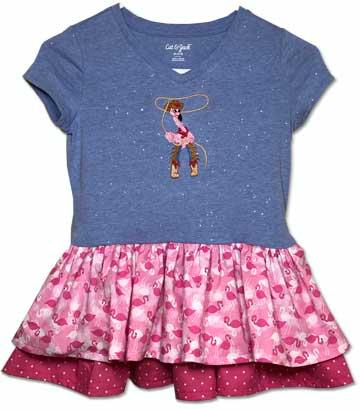 lgs117-Ellie-flamingo-dress