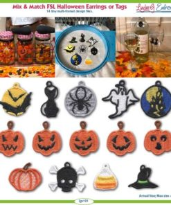 (lgs121) FSL Halloween Earrings & Tags