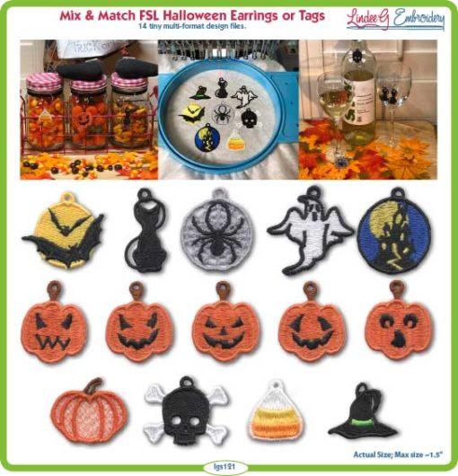 (lgs121) FSL Halloween Earrings & Tags