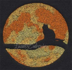 Cat with Moon Silhouette (5.9-in)