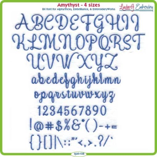 Amethyst Embroidery Font