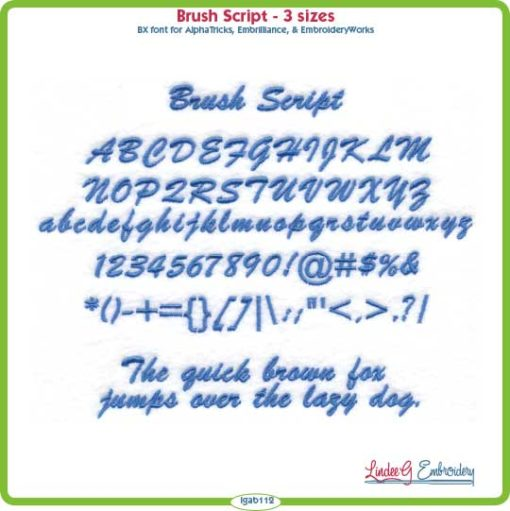Brush Script Embroidery Font