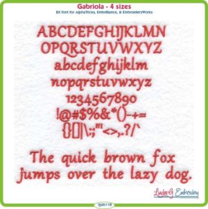Gabriola Embroidery Font