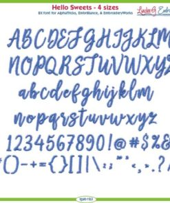 Hello Sweets Embroidery Font