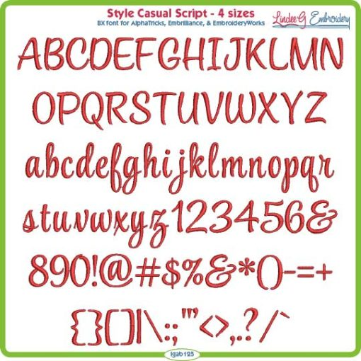 Style Casual Embroidery Font