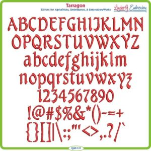 Tarragon Embroidery Font