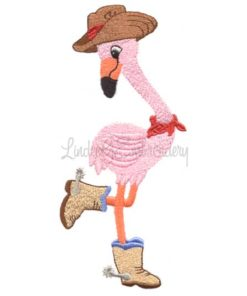 Flamingo with Spurs (3.3 x 7.3-in)